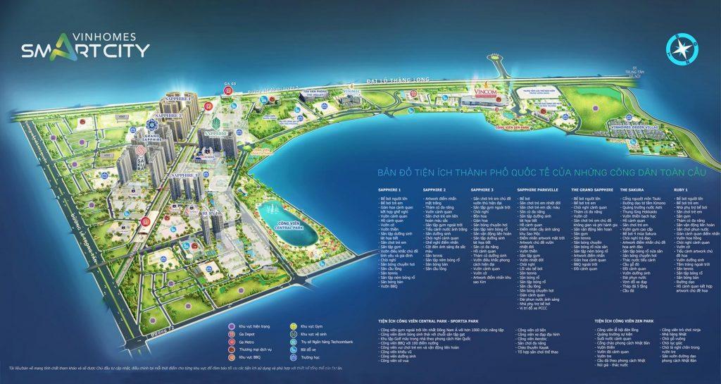 Mặt bằng dự án Vinhomes Smart City