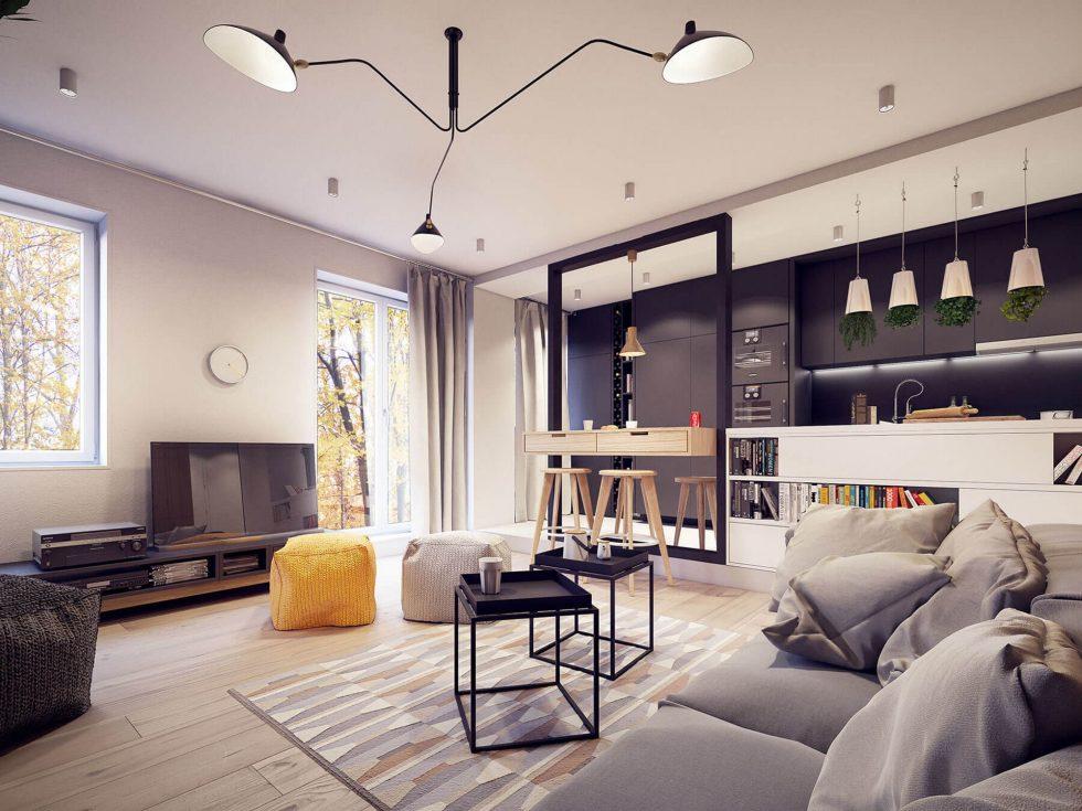 Những nội thất trong nhà với màu vàng Beige chủ đạo